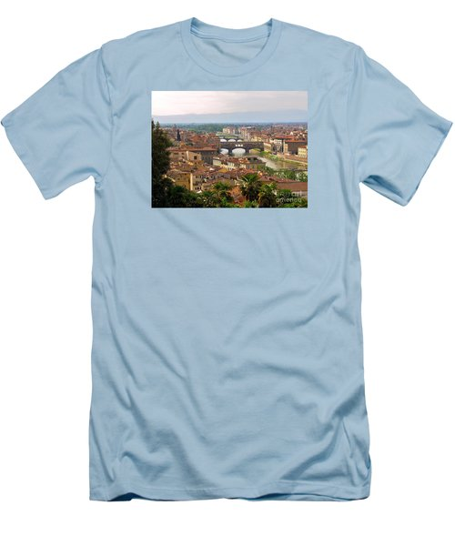 Men's T-Shirt (Slim Fit) featuring the photograph Florence Bridges by Haleh Mahbod