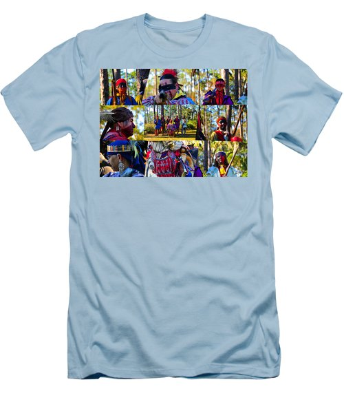 Men's T-Shirt (Slim Fit) featuring the photograph Florida Seminole Indian Warriors Circa 1800s by David Lee Thompson