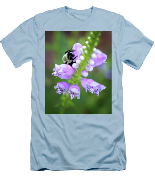Men's T-Shirt (Slim Fit) featuring the photograph Flower Climbing by Eduard Moldoveanu