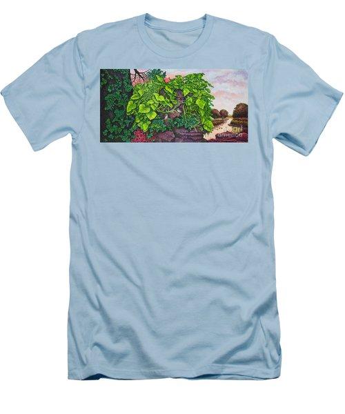 Flower Garden Viii Men's T-Shirt (Slim Fit) by Michael Frank