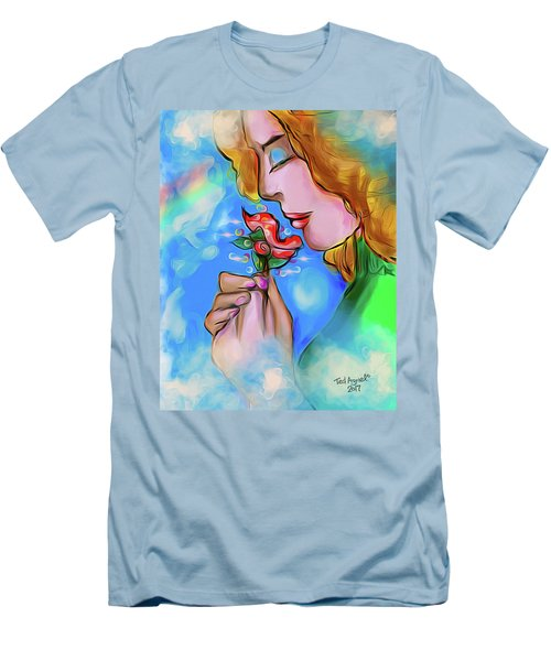 Flower Power Men's T-Shirt (Slim Fit) by Ted Azriel