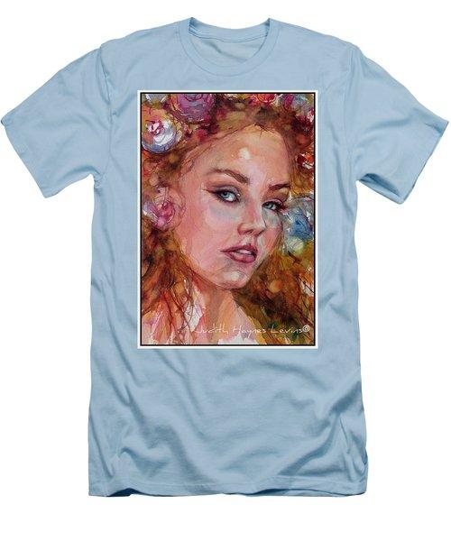 Flower Princess Men's T-Shirt (Slim Fit) by Judith Levins