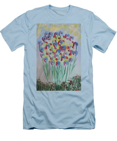 Flower Twists Men's T-Shirt (Slim Fit) by Barbara Yearty