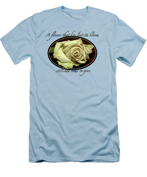 Men's T-Shirt (Slim Fit) featuring the photograph Flower Wisdom by Phyllis Denton