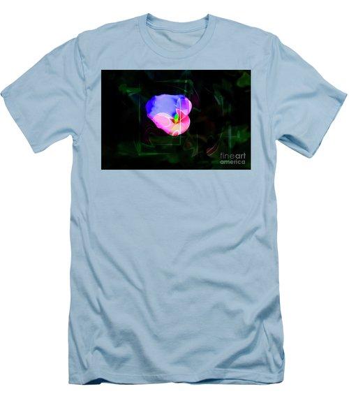 Men's T-Shirt (Slim Fit) featuring the photograph Flower Wower by Al Bourassa