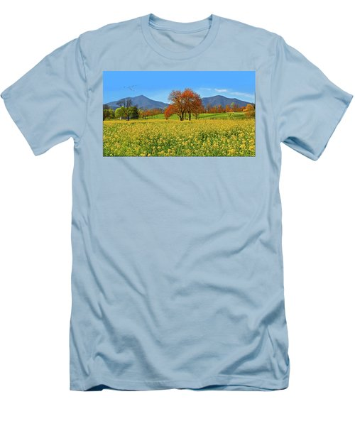 Flowering Meadow, Peaks Of Otter,  Virginia. Men's T-Shirt (Athletic Fit)