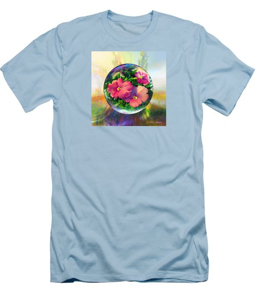 Men's T-Shirt (Slim Fit) featuring the painting Flowering Panopticon by Robin Moline
