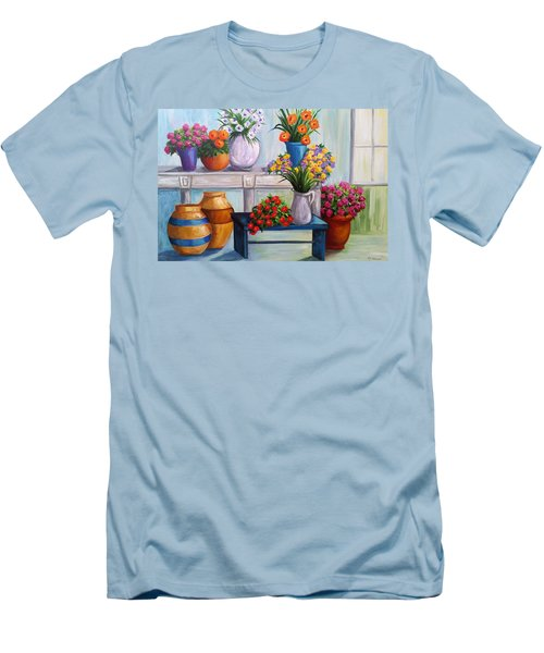 Flowerpots Men's T-Shirt (Athletic Fit)