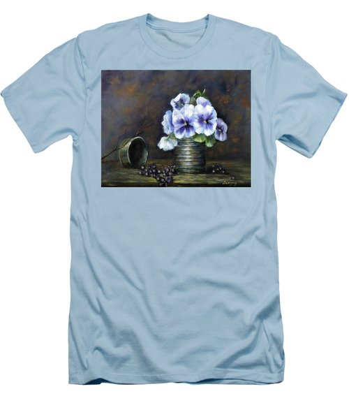 Flowers,pansies Still Life Men's T-Shirt (Athletic Fit)