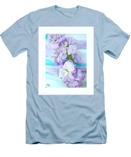 Fluffy Flowers Men's T-Shirt (Slim Fit) by Marsha Heiken