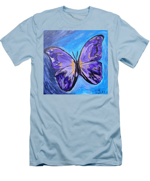 Flutterby Bring The Light Men's T-Shirt (Slim Fit) by Lisa Brandel