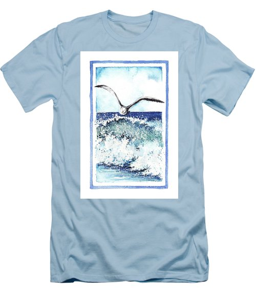 Men's T-Shirt (Slim Fit) featuring the painting Fly High by Heidi Kriel