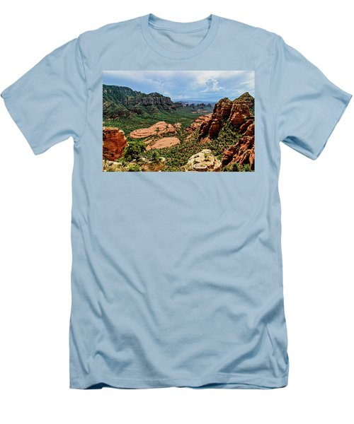 Flying Buttress 04-097 Men's T-Shirt (Slim Fit) by Scott McAllister