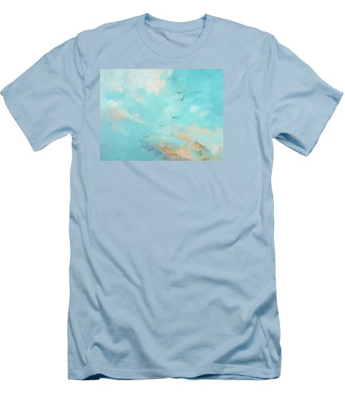 Flying High Men's T-Shirt (Slim Fit) by Dina Dargo