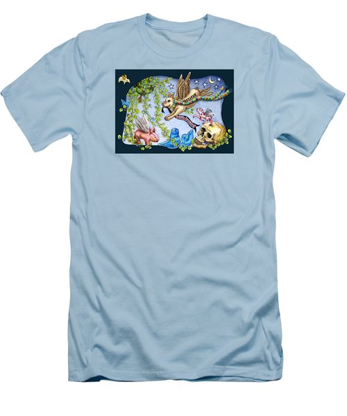Flying Pig Party 2 Men's T-Shirt (Slim Fit) by Retta Stephenson