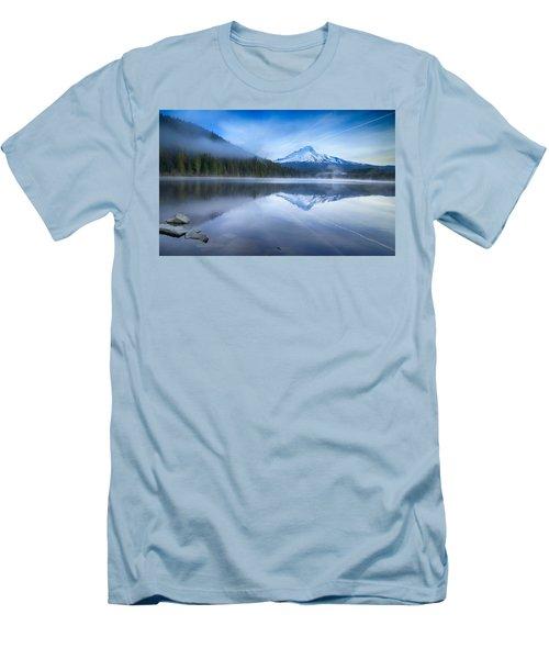 Fog And The Lake Men's T-Shirt (Slim Fit) by Lynn Hopwood