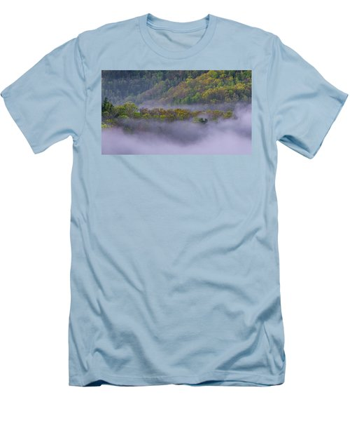 Fog In The Hills Men's T-Shirt (Slim Fit) by Ulrich Burkhalter