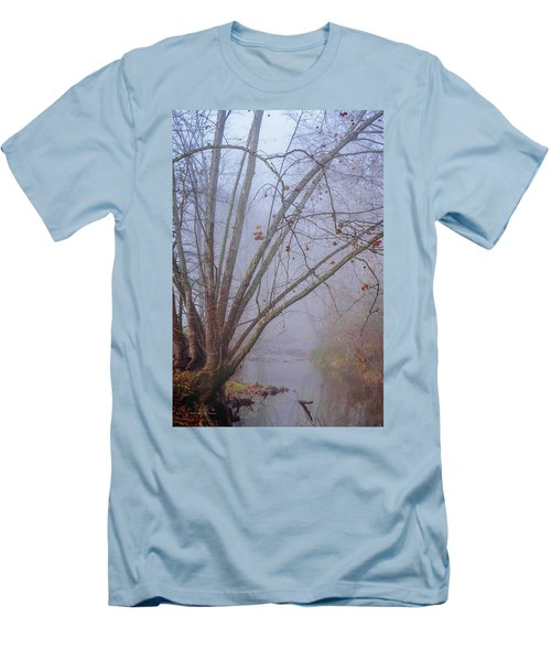 Fog On Buffalo Creek 1 Men's T-Shirt (Athletic Fit)