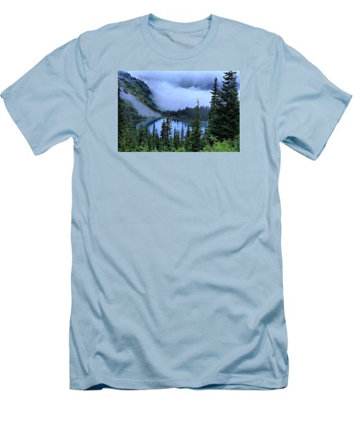 Fog Over Louise Lake Men's T-Shirt (Athletic Fit)