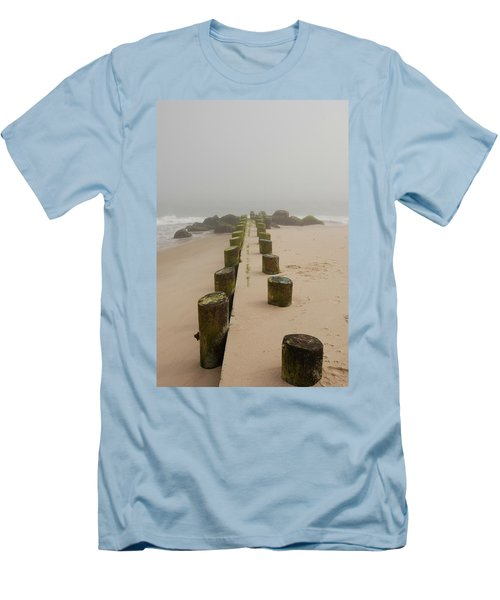 Fog Sits On Bay Head Beach - Jersey Shore Men's T-Shirt (Athletic Fit)
