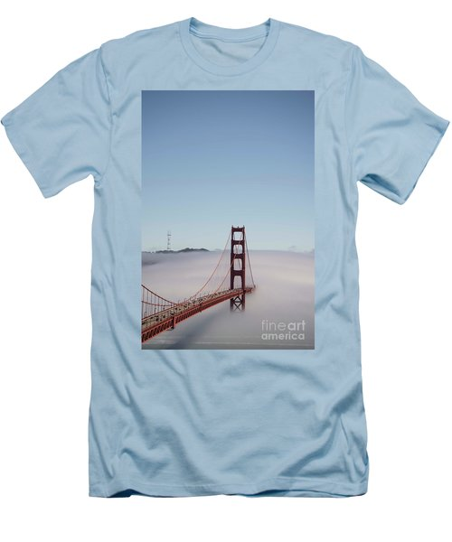 Men's T-Shirt (Slim Fit) featuring the photograph Foggy Golden Gate by David Bearden