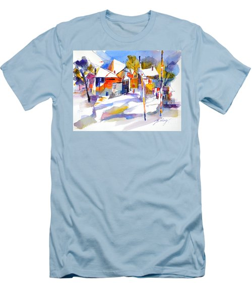 For Love Of Winter #2 Men's T-Shirt (Slim Fit) by Betty M M Wong