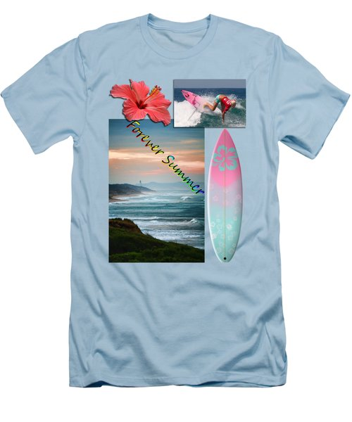 Men's T-Shirt (Slim Fit) featuring the photograph Forever Summer 5 by Linda Lees
