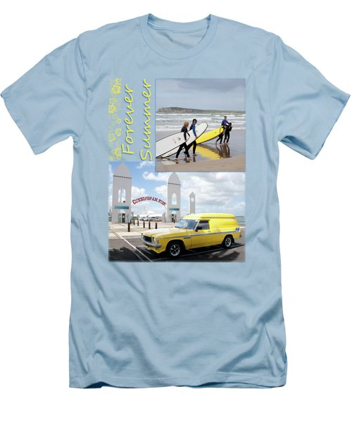 Men's T-Shirt (Slim Fit) featuring the photograph Forever Summer 6 by Linda Lees