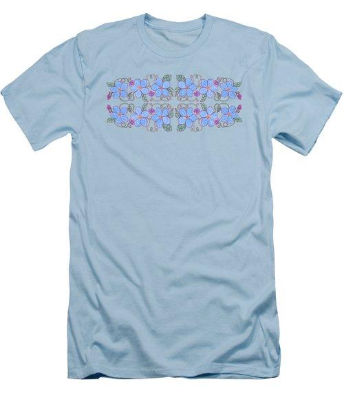 Forget Me Not Garland Men's T-Shirt (Slim Fit) by Teresa Ascone