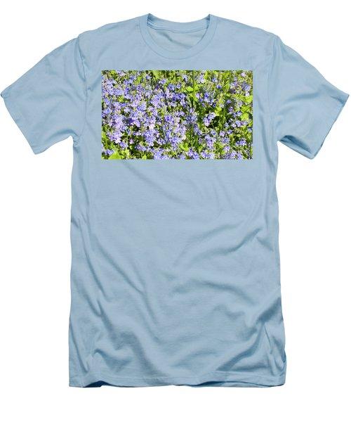 Forget-me-not - Myosotis Men's T-Shirt (Slim Fit) by Irina Afonskaya