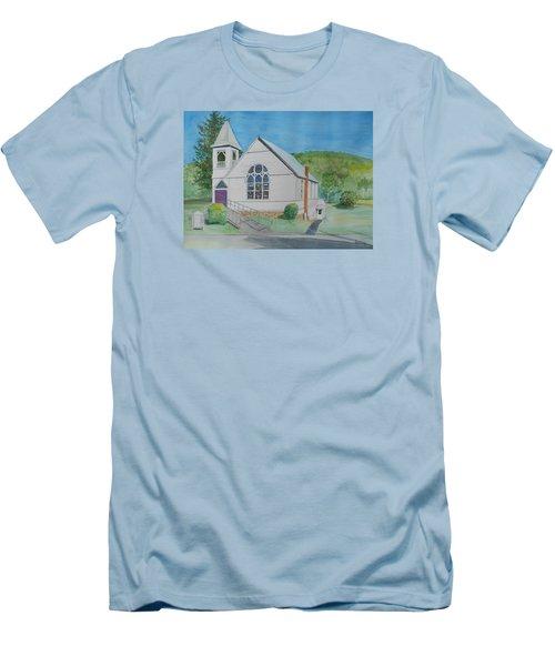 Former Rush Church Men's T-Shirt (Slim Fit) by Christine Lathrop