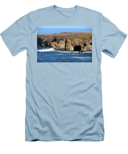 Fort Bragg Mendocino County Men's T-Shirt (Slim Fit) by Wernher Krutein