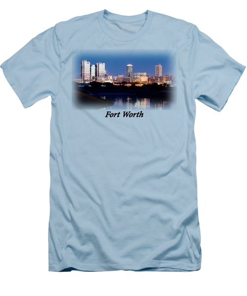 Fort Worth Night Skyline T-shirt Men's T-Shirt (Athletic Fit)