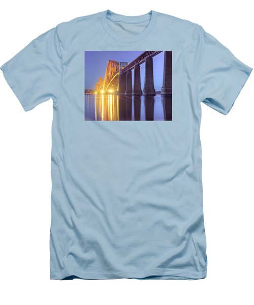 Forth Bridge Twilight Men's T-Shirt (Slim Fit) by Ray Devlin
