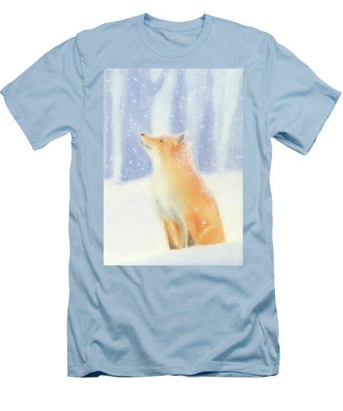 Fox In The Snow Men's T-Shirt (Slim Fit) by Taylan Apukovska