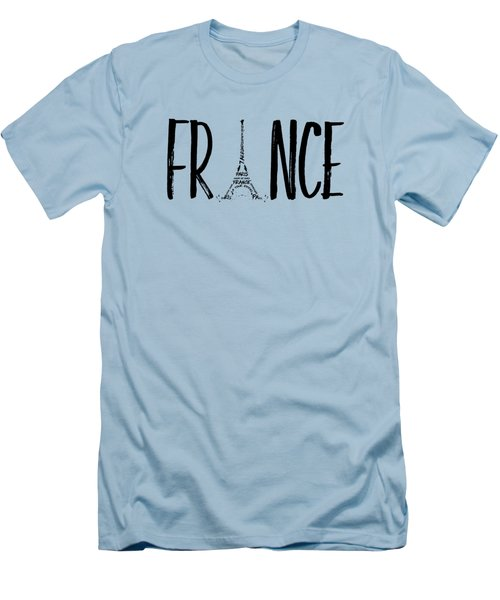 France Typography Panoramic Men's T-Shirt (Athletic Fit)