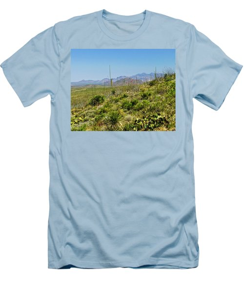 Franklin Mountains State Park Facing North Men's T-Shirt (Slim Fit) by Allen Sheffield
