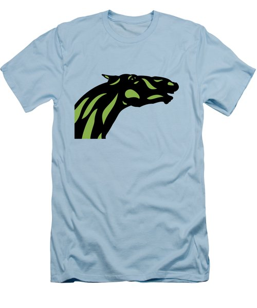 Fred - Pop Art Horse - Black, Greenery, Island Paradise Blue Men's T-Shirt (Athletic Fit)