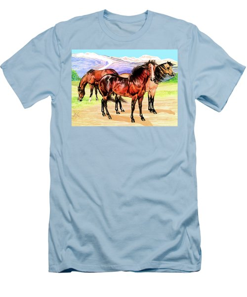 Free Range Men's T-Shirt (Slim Fit) by Cheryl Poland
