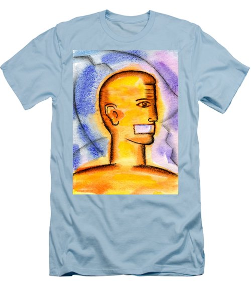 Men's T-Shirt (Slim Fit) featuring the painting Freedom Of Press  by Leon Zernitsky