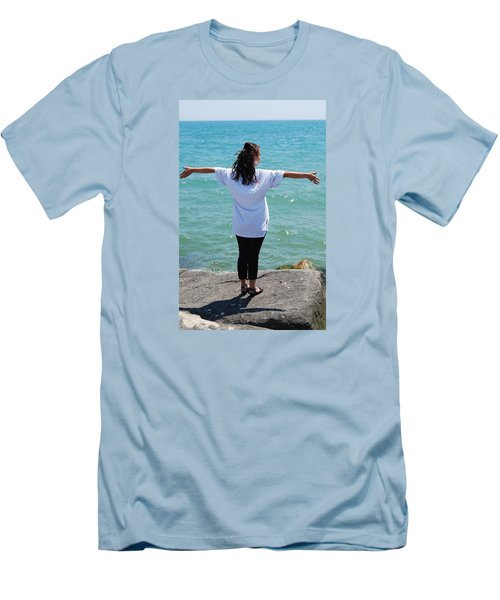 Men's T-Shirt (Slim Fit) featuring the photograph Freedom by Ramona Whiteaker