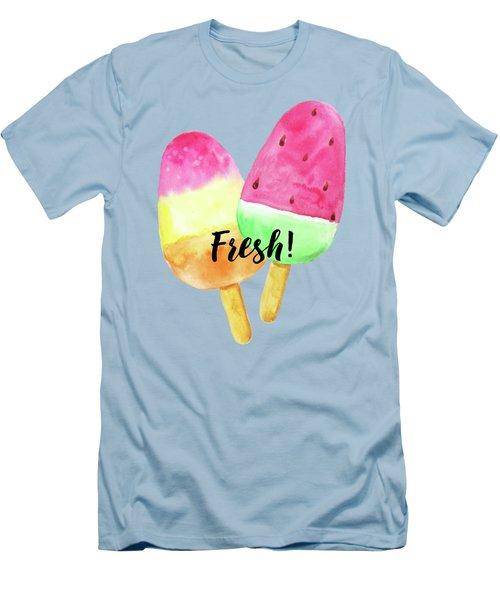 Fresh Summer Refreshing Fruit Popsicles Men's T-Shirt (Slim Fit) by Tina Lavoie