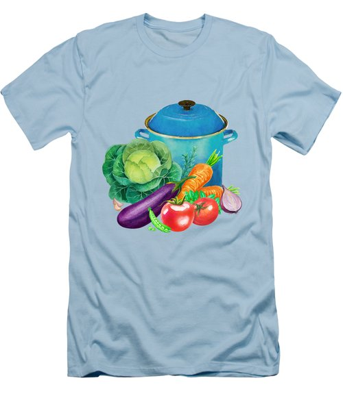 Fresh Vegetable Bounty Men's T-Shirt (Slim Fit) by Little Bunny Sunshine