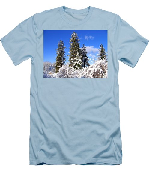 Men's T-Shirt (Slim Fit) featuring the photograph Fresh Winter Solitude by Will Borden