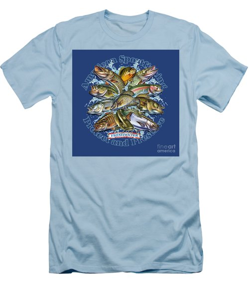 Freshwater Fish Preserve Men's T-Shirt (Slim Fit) by Jon Q Wright JQ Licensing