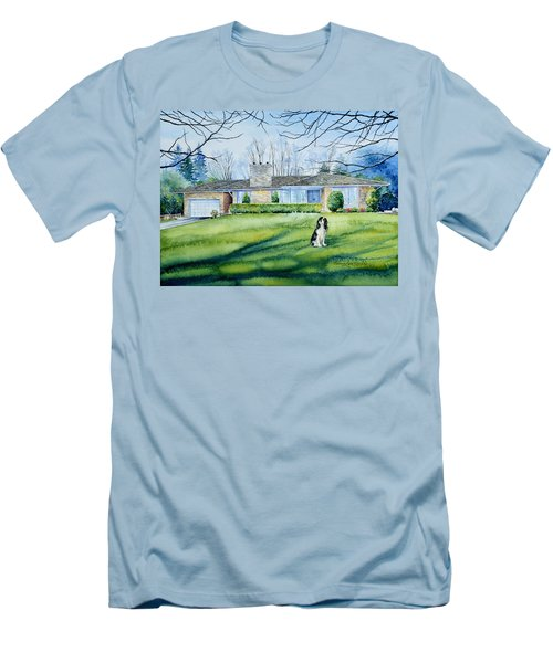 Men's T-Shirt (Athletic Fit) featuring the painting Front Yard Protection by Hanne Lore Koehler