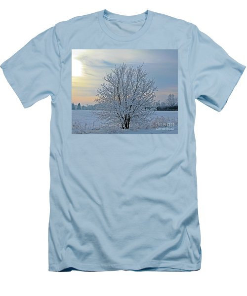 Men's T-Shirt (Slim Fit) featuring the photograph Frosted Sunrise by Heather King