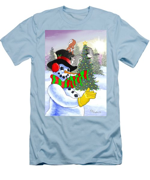 Frosty And Friends Men's T-Shirt (Athletic Fit)