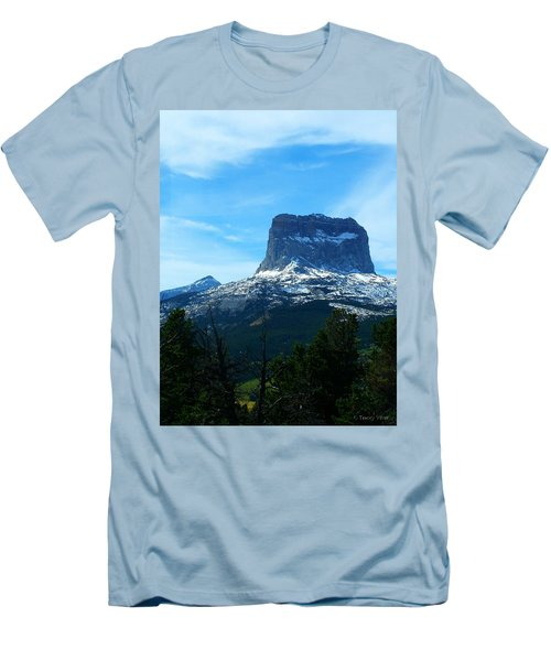 Frosty Chief Mountain Men's T-Shirt (Athletic Fit)