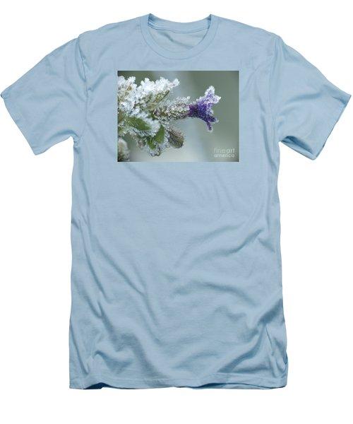 Frosty Flower Men's T-Shirt (Slim Fit) by Odon Czintos
